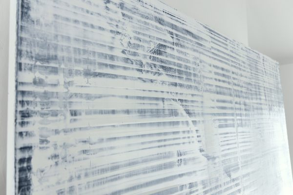 White Abstract Painting Observer