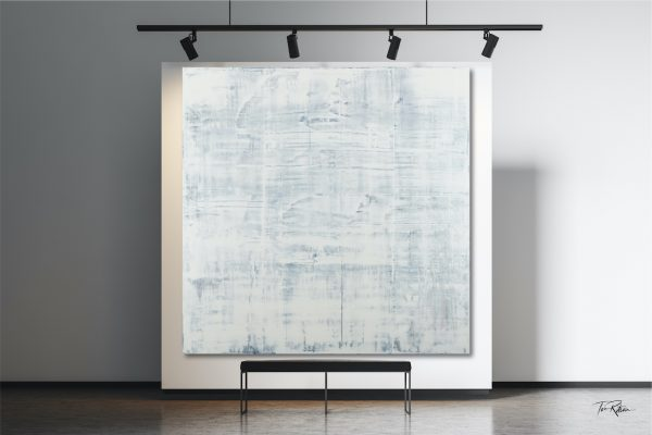 White Abstract Painting Further